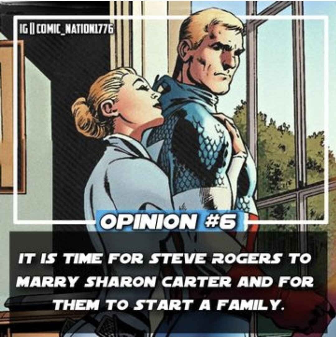 I agree, that the best couple in Marvel should get married.   #CaptainAmerica #SharonCarter #Staron #SuperPowerCouple #Marvel