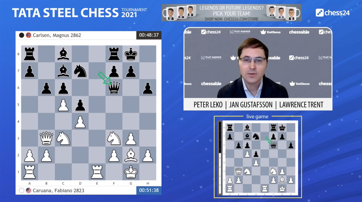 test Twitter Media - 16.Nxd5! is playable and best now for Fabiano! (though it's not a knockout blow) https://t.co/RIDyZC3cQ6  #c24live #TataSteelChess https://t.co/TEWn0LcID7