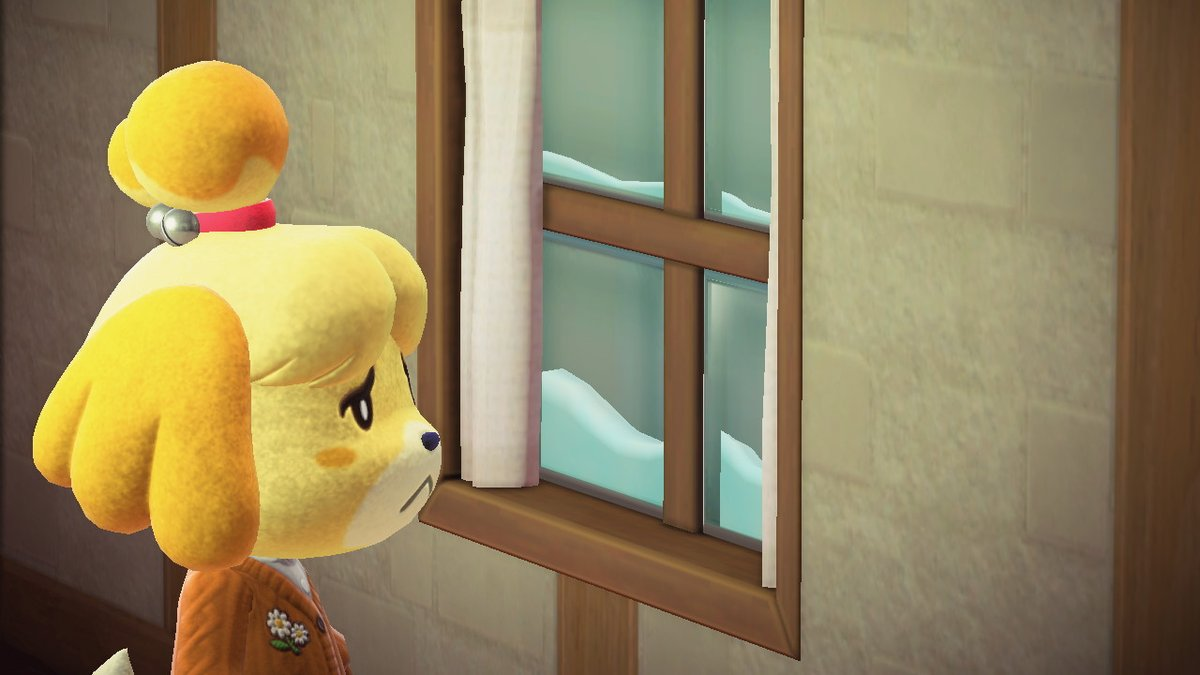 While we enjoy our islands, due to Nook's work policies Isabelle is trapped inside 24/7 #FreeIsabelle #AnimalCrossing #ACNH #NintendoSwitch