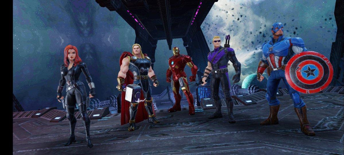 Cette team de LÉGENDES!!!  @MarvelStrikeF #MarvelStrikeForce #CaptainAmerica #IronMan #Hawkeye #Thor #BlackWidow @MarvelFR