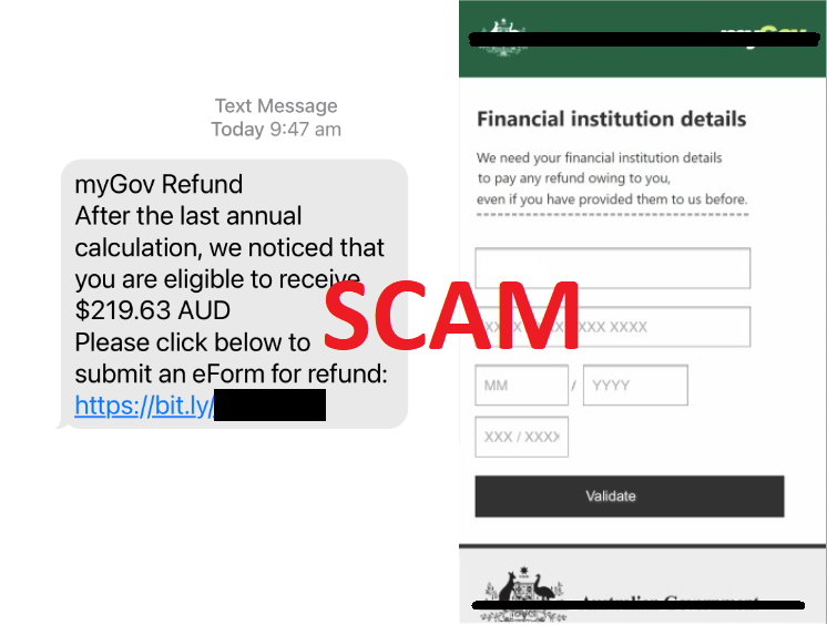 This week we've received more than 80 reports of phishing messages in this ongoing campaign impersonating myGov. Don't click on links in emails or text messages claiming to be from myGov. myGov will never send you a text, email or attachment with hyperlinks or web addresses. https://t.co/y3VzT34odg