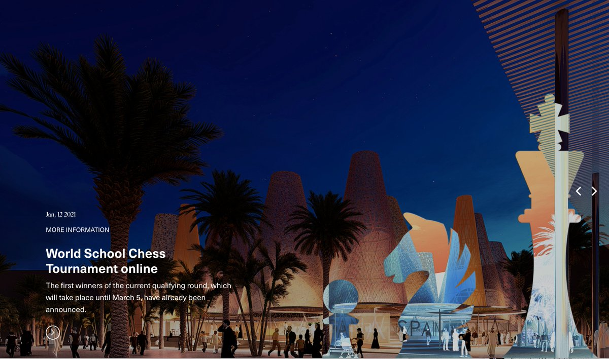 test Twitter Media - During the Expo, the Spanish Pavillion 🇪🇸 will also host the final of the World Online School Chess Tournament at Expo 2020 Dubai, under the motto 'Intelligence for Life'. More info: @ExpoSpain2020 https://t.co/SsbbnLoC55