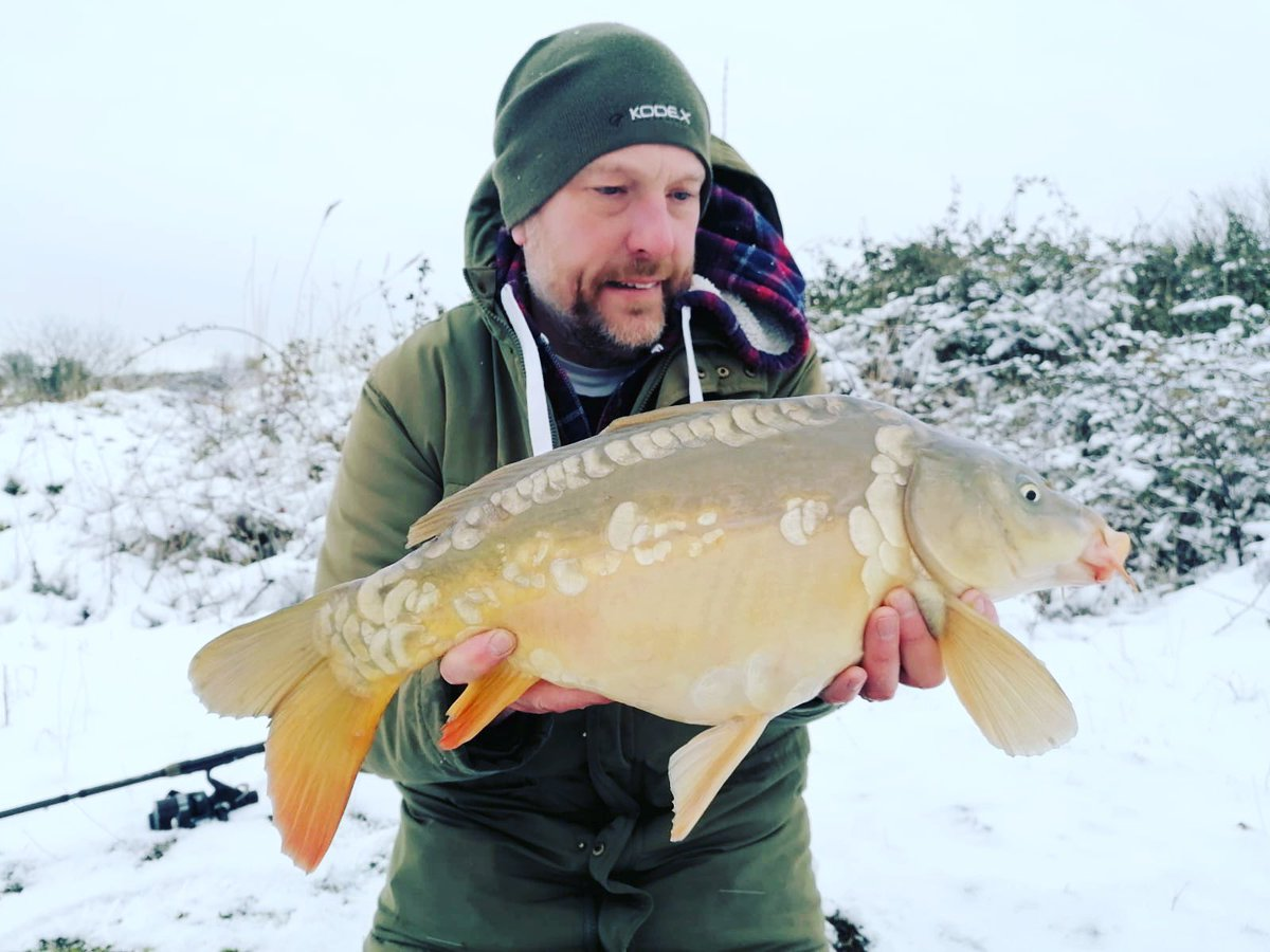 This was my 2nd snow carp from Monday ❄️❄️<b>🎣</b><b>🎣</b> #snowcarp #fishing #carpfis