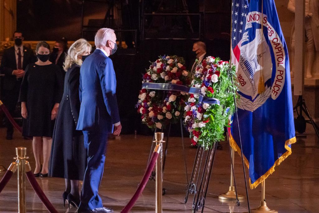 Officer Brian Sicknick was a hero who died in the line of duty defending our democracy and the citadel of liberty itself. To his family and loved ones, I know no words can dull the pain of this moment, but know Jill and I and the entire nation join you in mourning his loss.