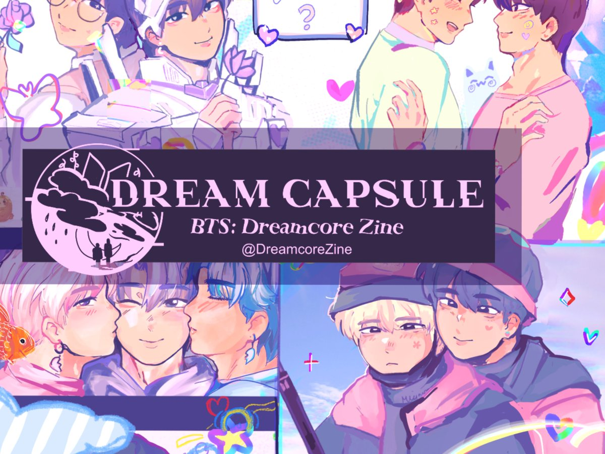 PREVIEW OF MY PIECE FOR @DreamcoreZine💗💜 YAAA JIN HAREMMMMM 🐹🐨🐱🐿🐣🐻🐰PREORDERS OPEN FEB  10!!