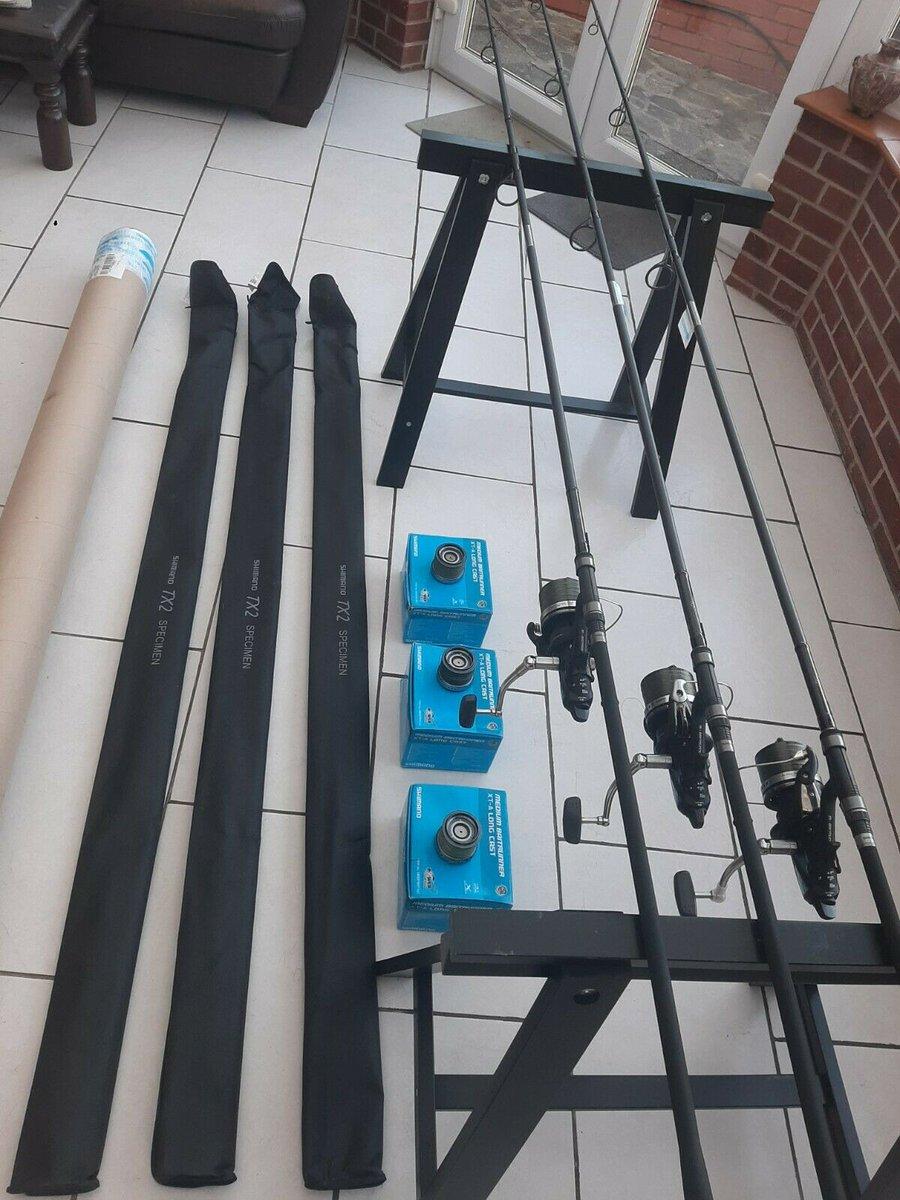 Ad - Shimano Rods With Shimano Reels x3 On eBay here -->> https://t.co/dpixv3vSCT  #carpfishin
