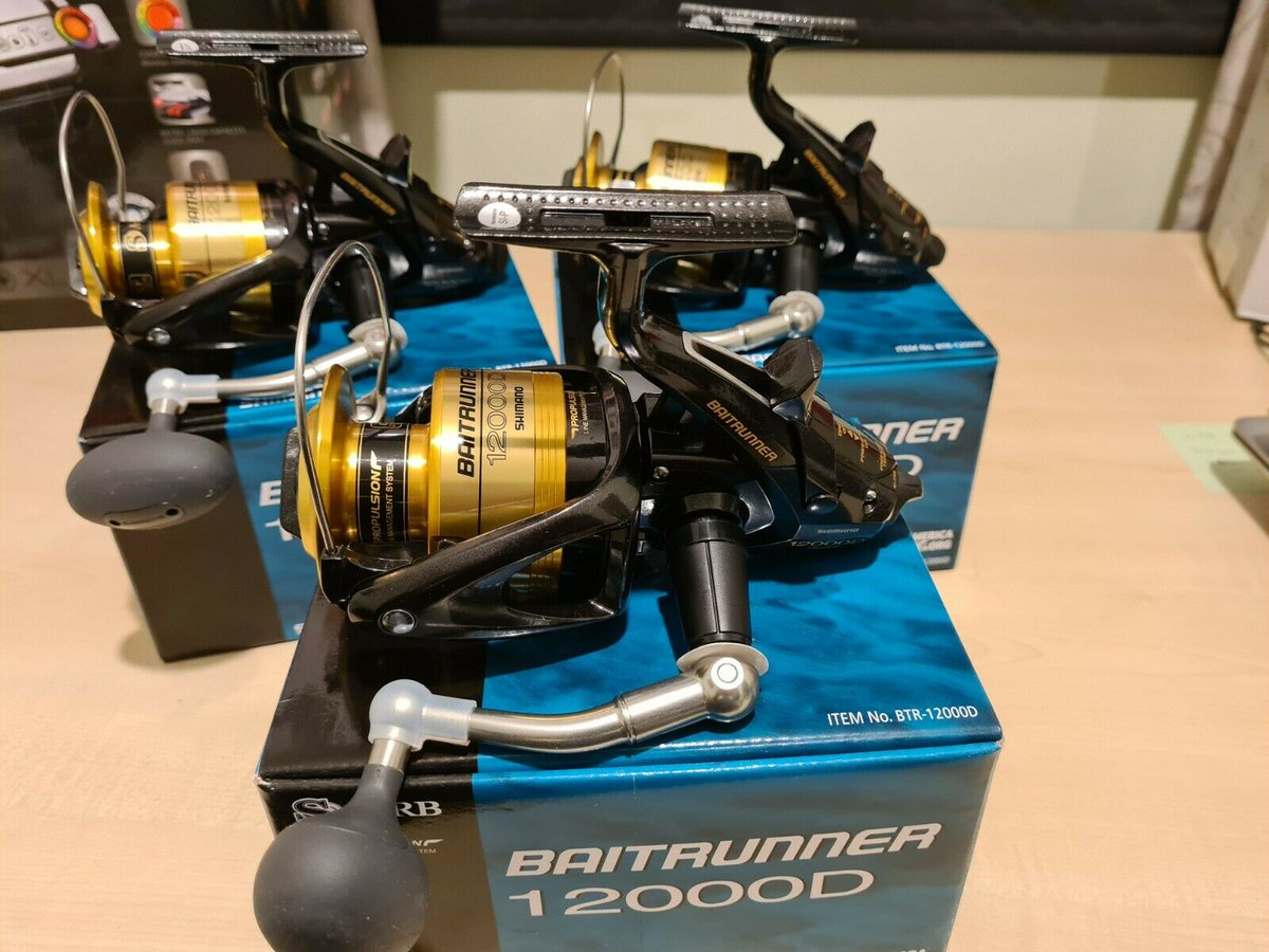 Ad - 3x Shimano Baitruner 12000D reels On eBay here -->> https://t.co/v0WT6xepZT  #carpfishing