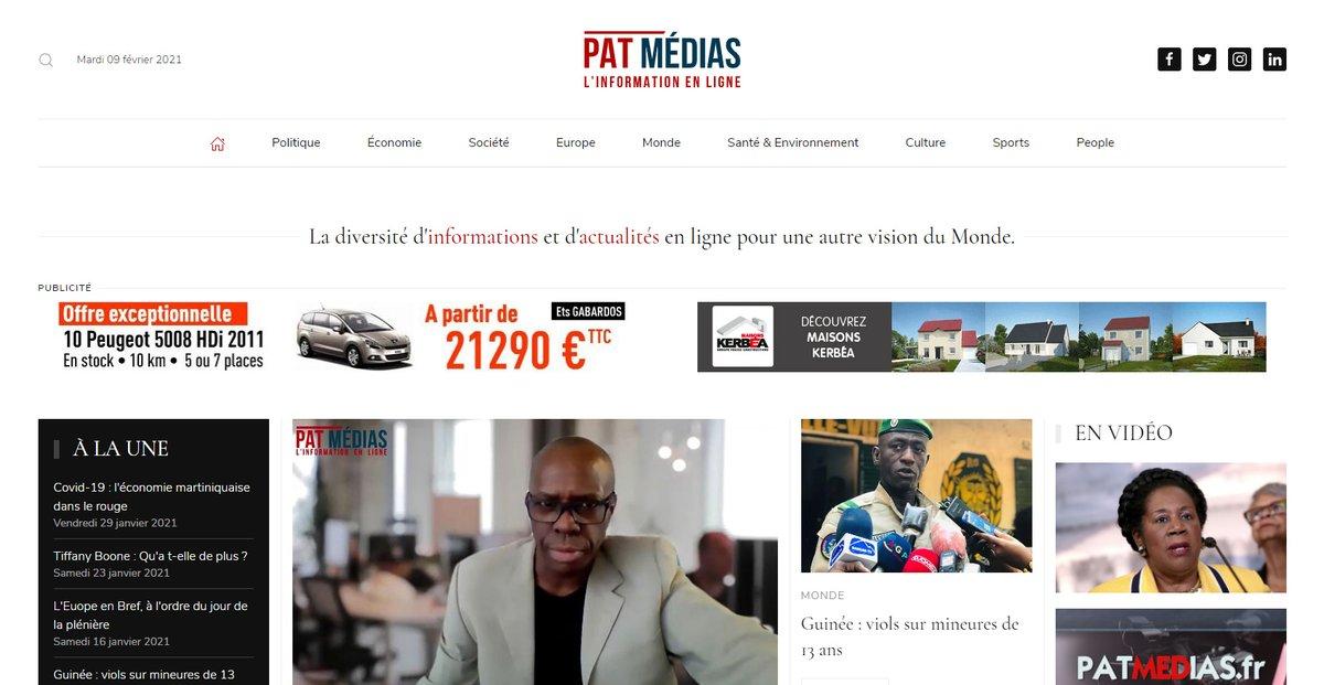 Refonte su site d'informations Patmédias avec migration des éléments K2 ...