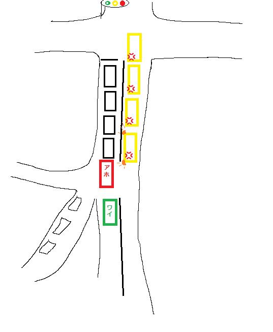 追い越し禁止車線 右折諦めろよ ヤベえ運転 サンデードライバー アホに関連した画像-04