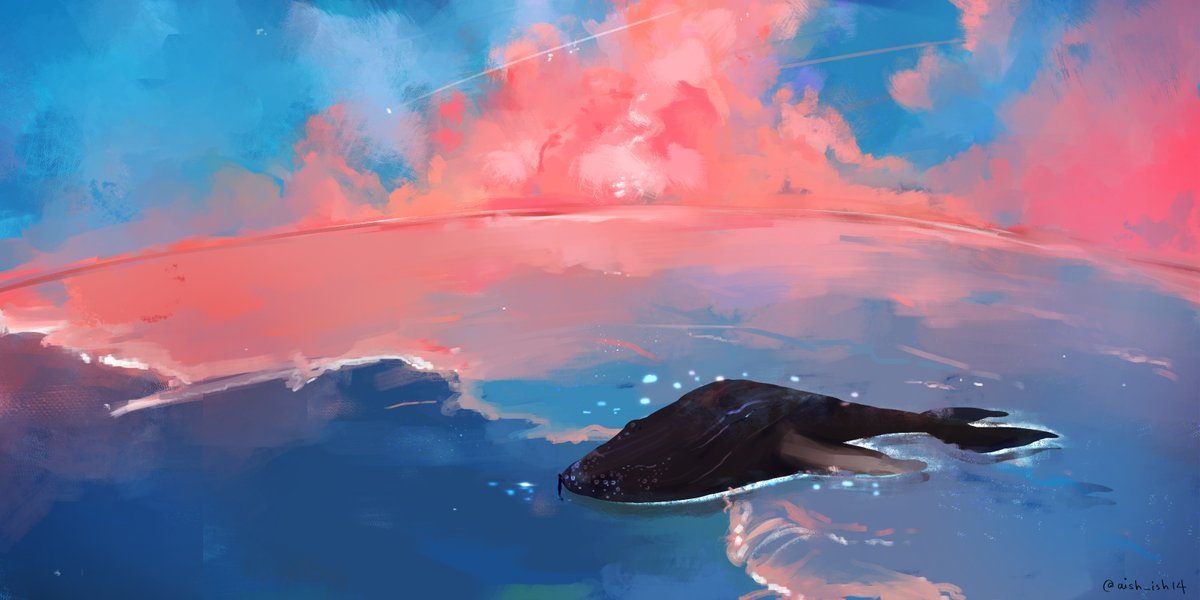 In search of blue side, a lonely whale.🌊 (Hobi found them 🥺)