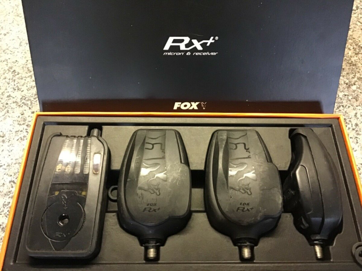 Ad - Fox RX+ Plus 3-Rod bite alarms  On eBay here -->> https://t.co/YqtSDCVvxw  #carpfishing h