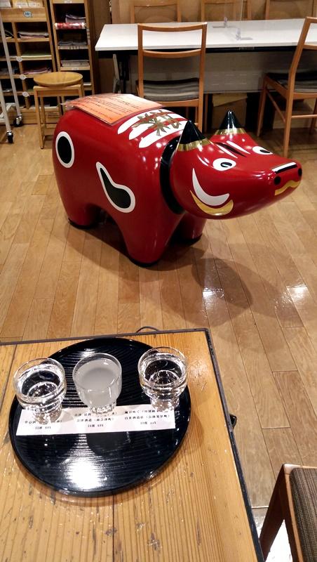 test ツイッターメディア - 日本橋まで来たので例によって【飲んだ】飲み比べセット[左から、夢心(夢心酒造、喜多方市)、会津 活性清酒(会津酒造、南会津町)、風が吹く(白井酒造、会津美里町)](日本橋福島館/東京都中央区)。 うろ覚えだが活性清酒が日本酒と思えない甘さだった様な、炭酸入れるとスパークリング日本酒になる? https://t.co/PirU78cXCO