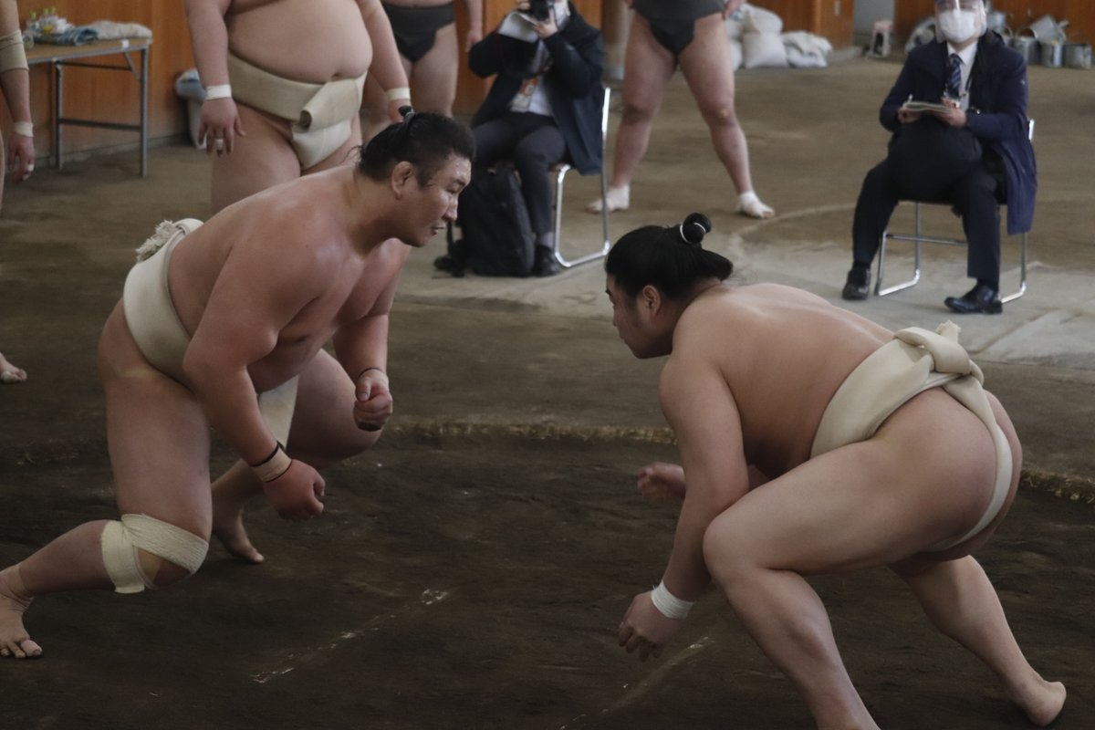 test ツイッターメディア - <合同稽古> 稽古の様子。東龍、霧馬山、若隆景、阿武咲。  #sumo #相撲 #春場所 #三月場所 #東京 https://t.co/TQVOQspulf