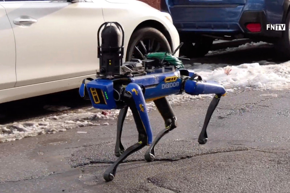 Video shows NYPD's new robotic dog in action in the Bronx