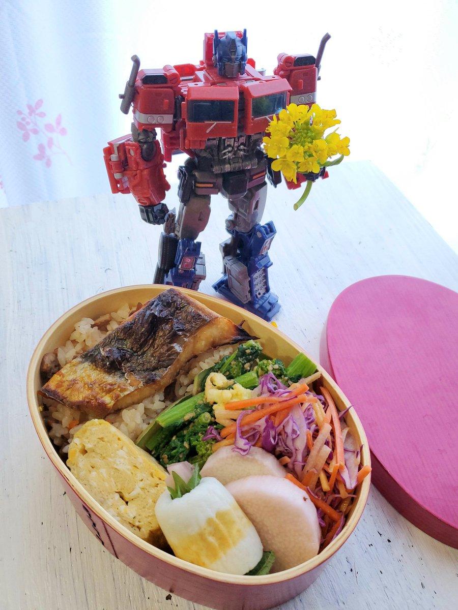 test ツイッターメディア - きょうのおべんと。 蛤の炊き込みご飯、菜の花のマヨごま和え、紫キャベツとニンジンのサラダ、たまごやき、鰆(焦げた)、長芋の岩下漬け、チーちく巻き。 https://t.co/FZF0tDlM4h
