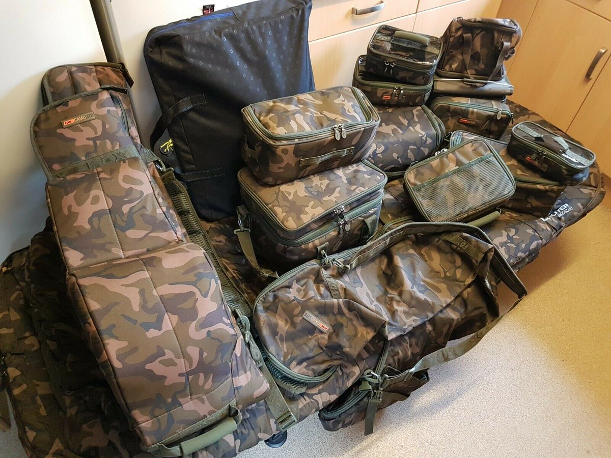 Ad - Fox Camolite Luggage Bundle On eBay here -->> https://t.co/uG9WyircgV  #carpfishing https