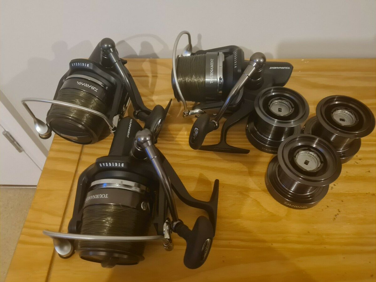 Ad - 3x Daiwa Tournament Entoh QDX 5500QD with spare spools On eBay here -->> https://t.co/k8t