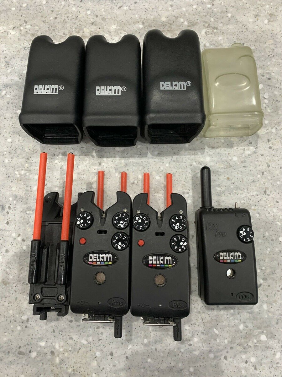 Ad - 3x Red Delkim Txi Plus Bite Alarms With Rx Pro Receiver On eBay here -->> https://t.co/SX