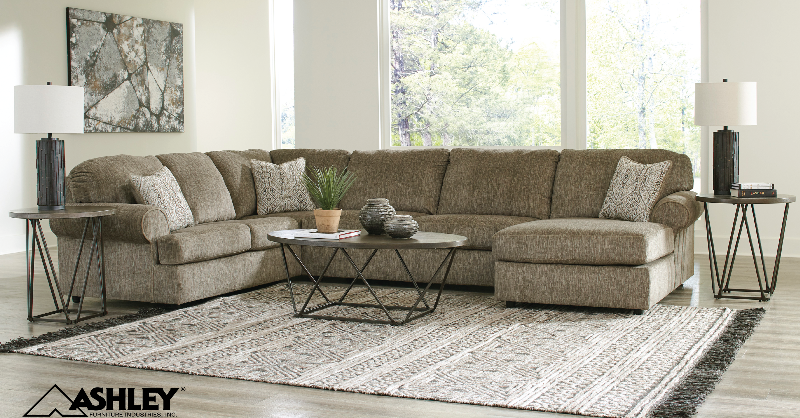 """Give your #livingroom a rich, neutral appeal with the Ashley """"Hoylake""""..."""