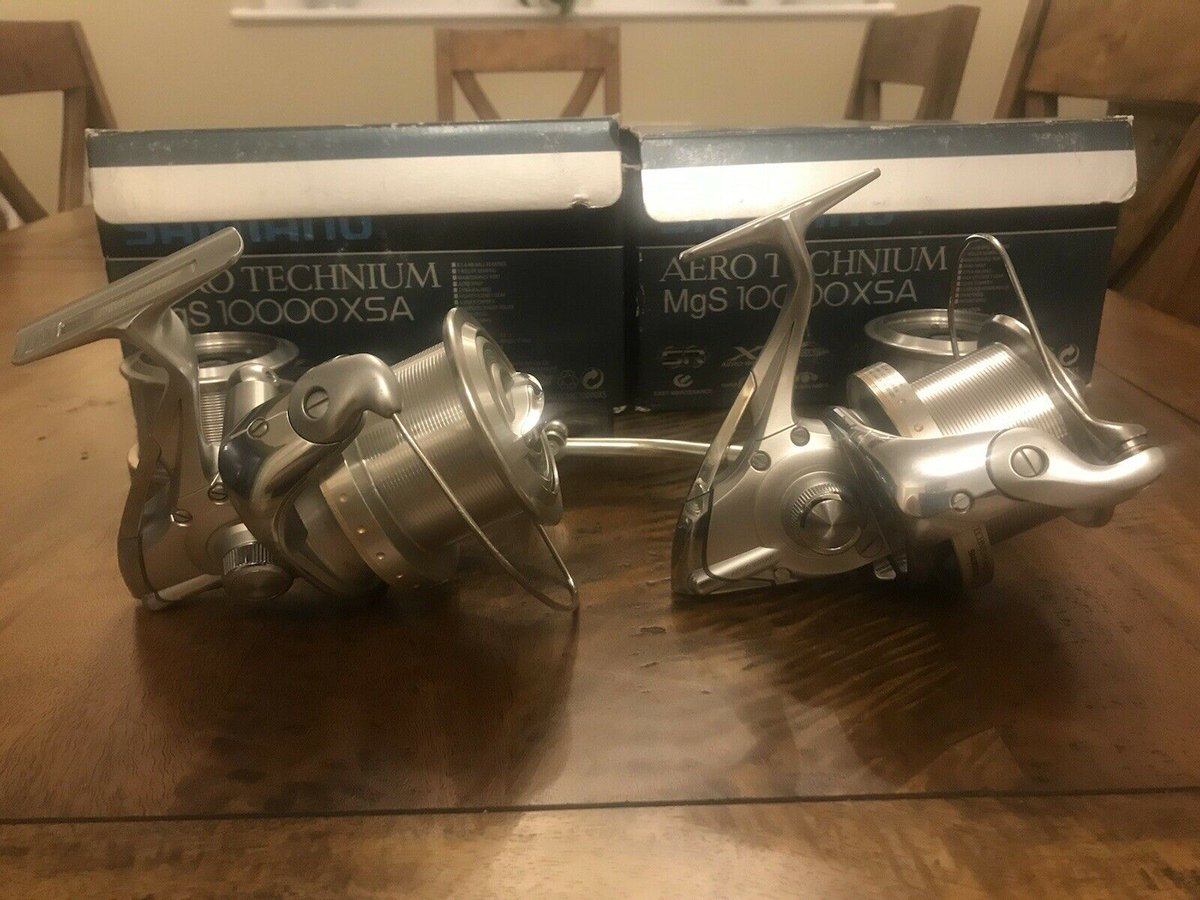 Ad - 2x Shimano Aero Technium MgS 10000 XSA Reels On eBay here -->> https://t.co/qeiS7gkIM2  #