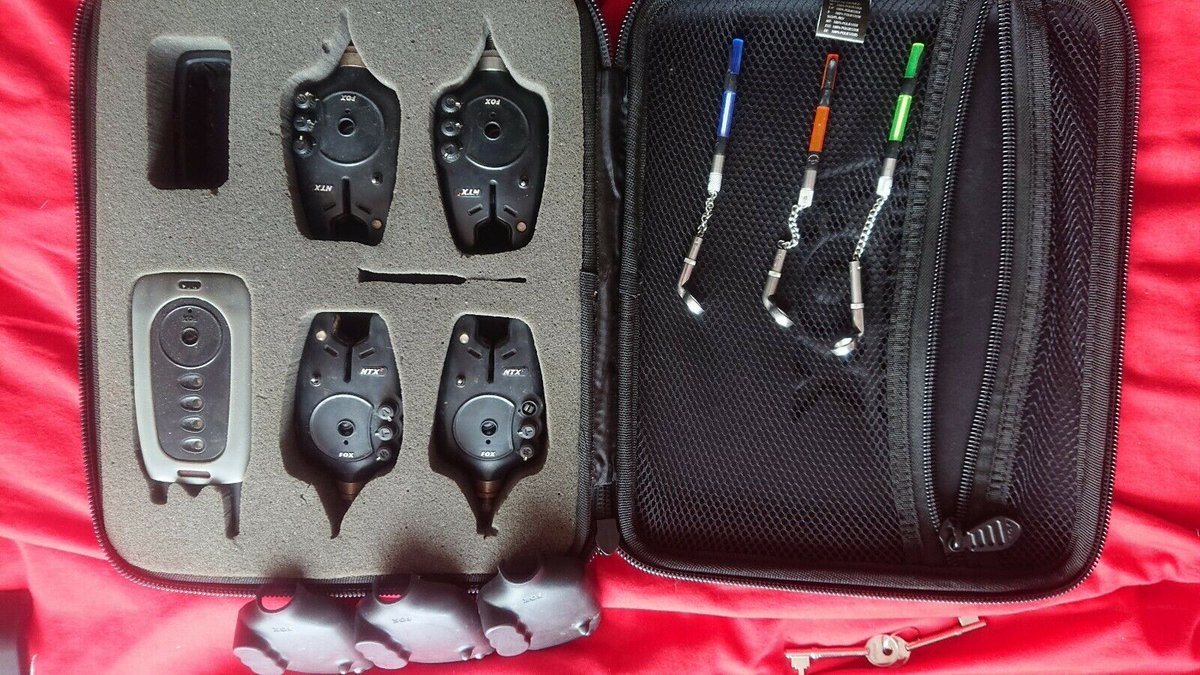 Ad - Fox NTX Bite Alarms 4+1 On eBay here -->> https://t.co/R3Vmaoj9iM  #carpfishing https://t