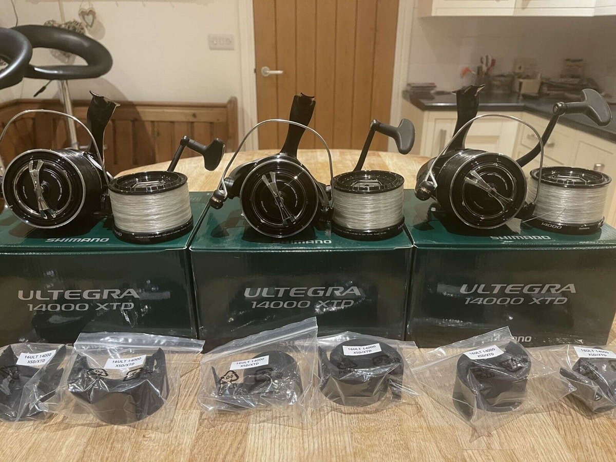 Ad - 3x SHIMANO ULTEGRA 14000 XTD CARP REELS On eBay here -->> https://t.co/4Dk0hvECGb  #carpf