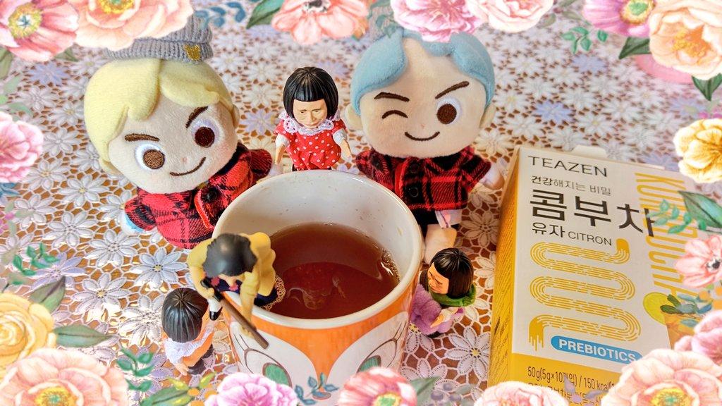 test ツイッターメディア - コンブチャ飲んでみました😊 お湯を注いだ瞬間泡立ってビックリ😱味は少し甘めかな🤔 ビタミンがいっぱい入ってそうな味😋 やっぱり昆布茶と違った🤣🤣 https://t.co/WchtnyVNXE