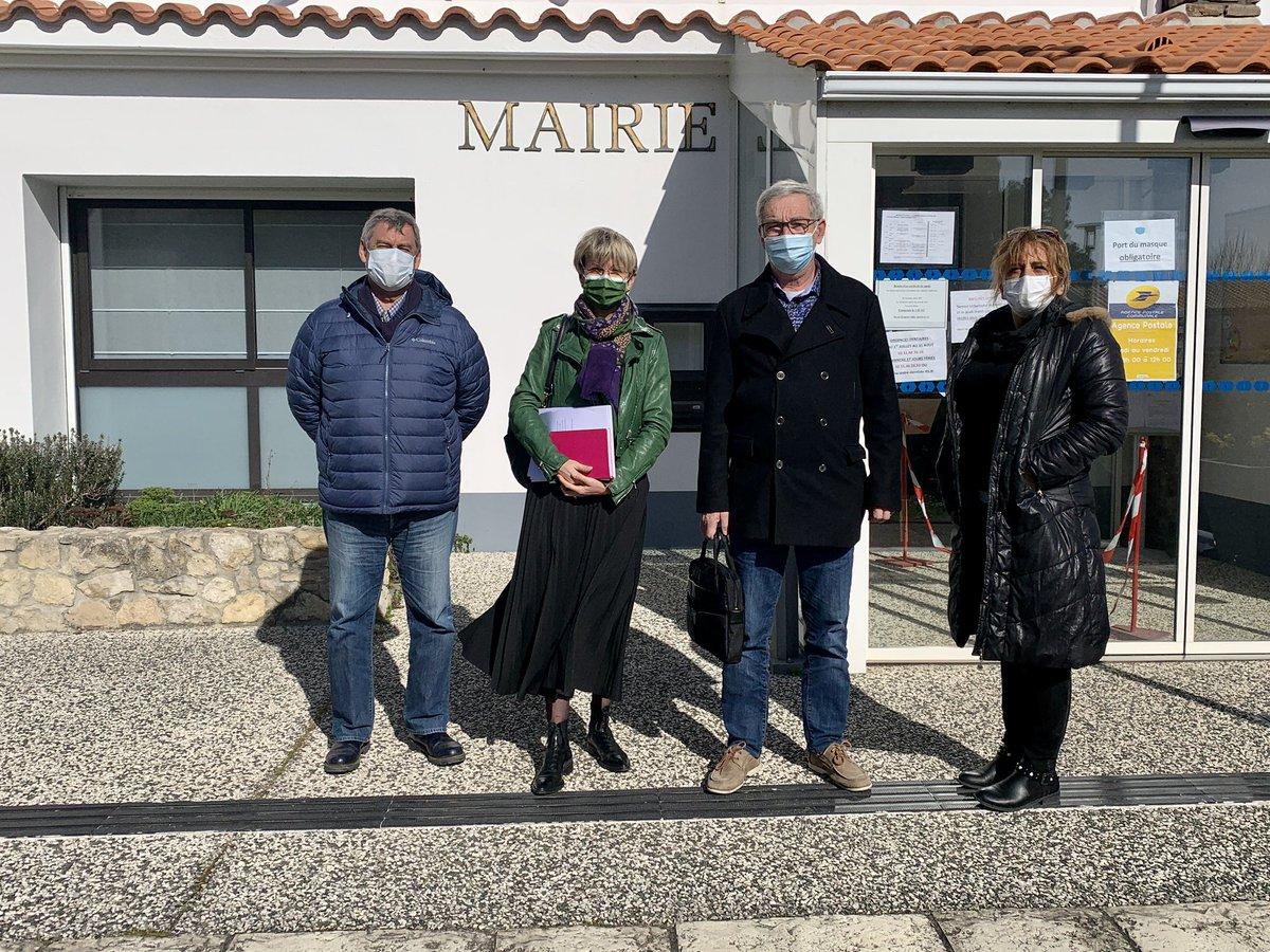 @Senat @UC_Senat @DepVendee #senateurdeterrain a la rencontre des élus @ile_noirmoutier commune de la @gueriniere
