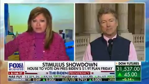 Senator Rand Paul discussing stimulus, Biden's overall Covid response, Romney's comments on the future of the GOP, & Trump wanting to join social media again. @RandPaul