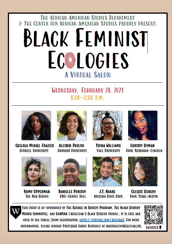 test Twitter Media - Tonight at 6:00 p.m. @wesleyan_u Black Feminist Ecologies https://t.co/IVG7L5iM4B