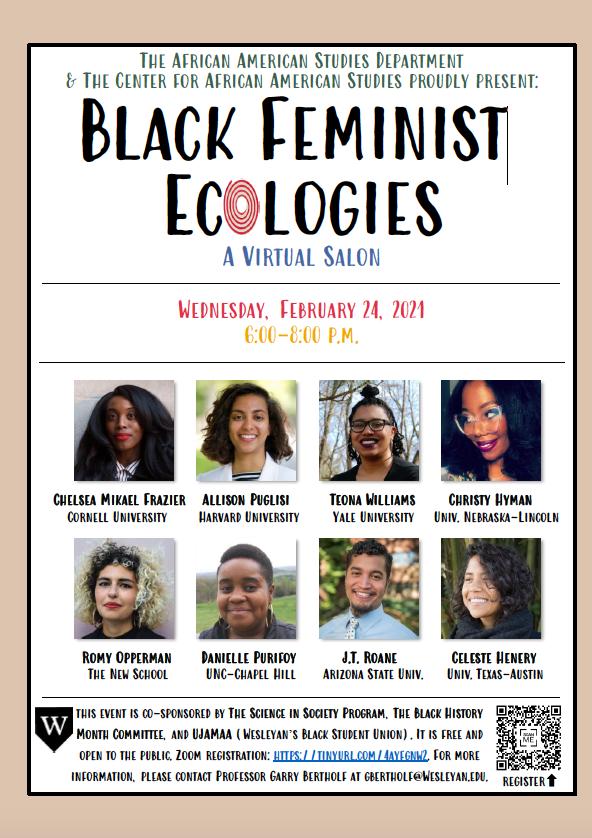 test Twitter Media - Tonight at 6:00 p.m. @wesleyan_u Black Feminist Ecologies https://t.co/IVG7L5iM4B