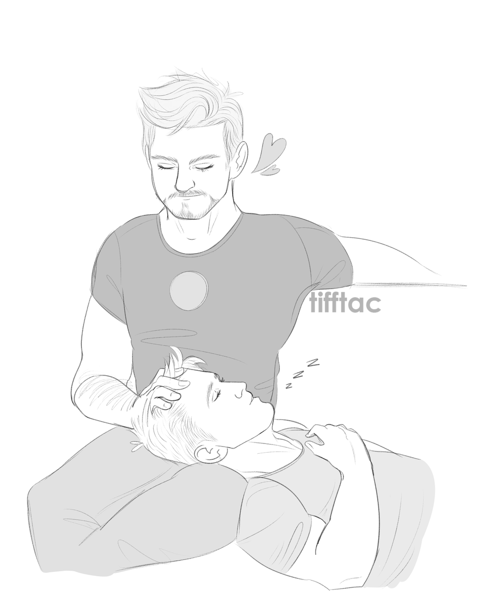 a soft, sappy ko-fi request for @Stony_otp ❤️💙 thank you so much for your support! #stevetony #superhusbands