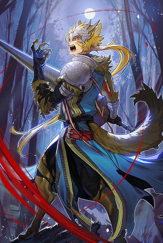 test ツイッターメディア - 【幻獣の世界エピローグ公開!キャラ紹介】 《戦狼》 ダナディ(CV:#柳田淳一 / 絵:天野英)  幻獣の世界で戦狼の力を得たダナディ。 その雄叫びは遥か遠くまで届き、敵を慄かせ、味方を鼓舞する力を持つ。  #チェンクロ https://t.co/NsK8PbChFf