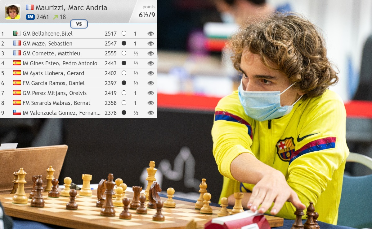 test Twitter Media - Despite being slowed down by the pandemic, 13-year-old  Marc Maurizzi from Corsica just made his 2nd GM norm and is well on course to beat Etienne Bacrot and MVL to become the youngest ever French grandmaster!   https://t.co/1PPmavxLmj  #c24live https://t.co/lB8vAi9jGu