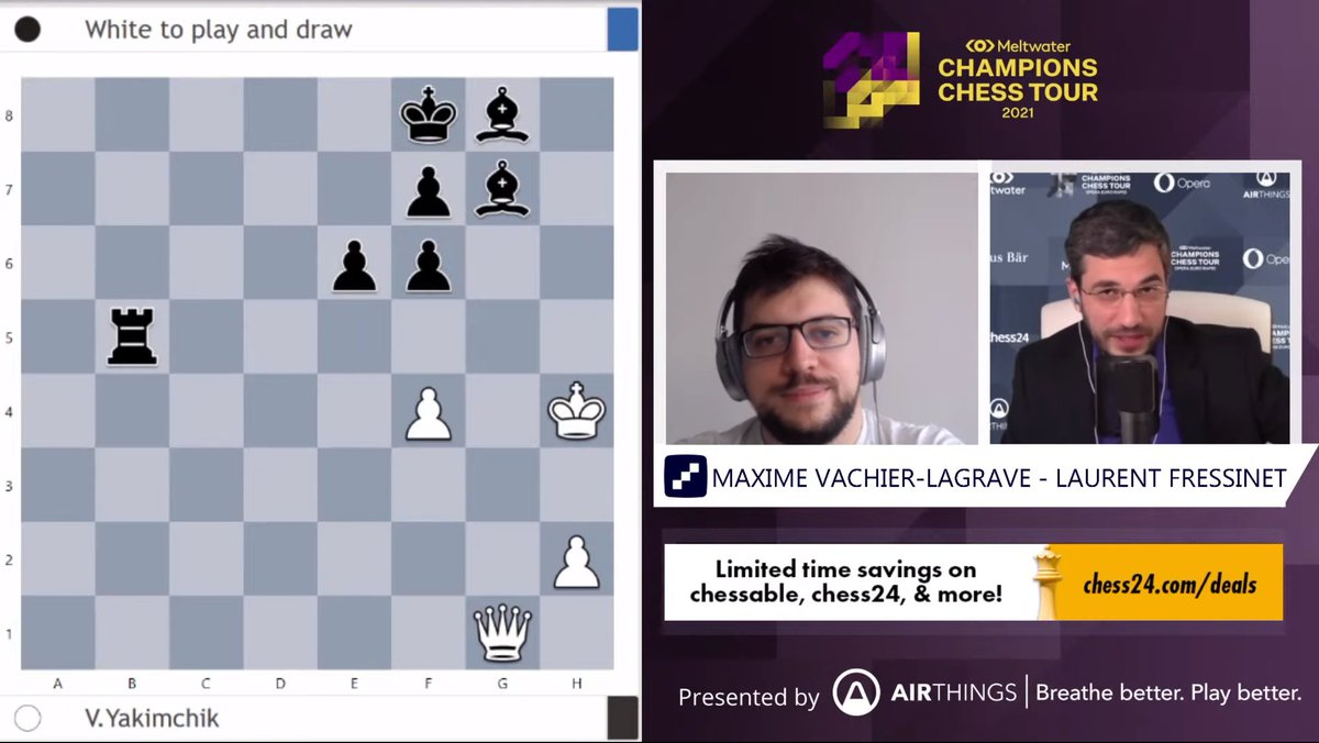 test Twitter Media - Can MVL solve studies posed to him by world no. 3 Ding Liren?   https://t.co/Yqyo16WEhY   #c24live #ChessChamps https://t.co/aWhBvCEzCb