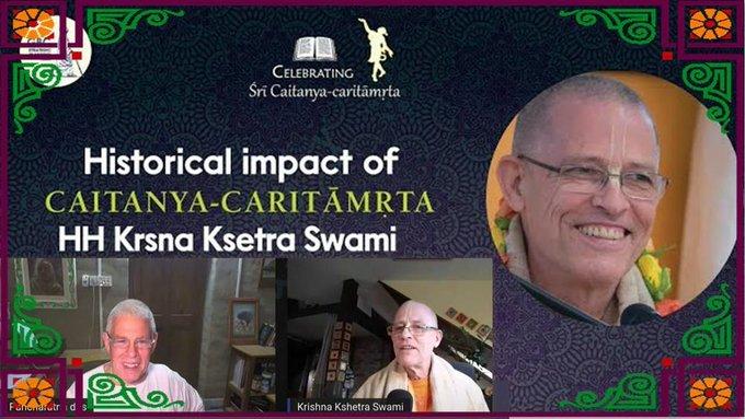 Historical impact of Śrī Caitanya-caritāmṛta with Krsna Ksetra Swami (video)Krishna Kshetra....