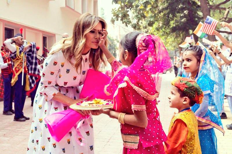 Beautiful nostalgic memories... Memories full of warmth, love and happiness.💕  Thank you Hon. @MELANIATRUMP. Our students miss you.❣️  #DelhiGovtSchools #BeBest