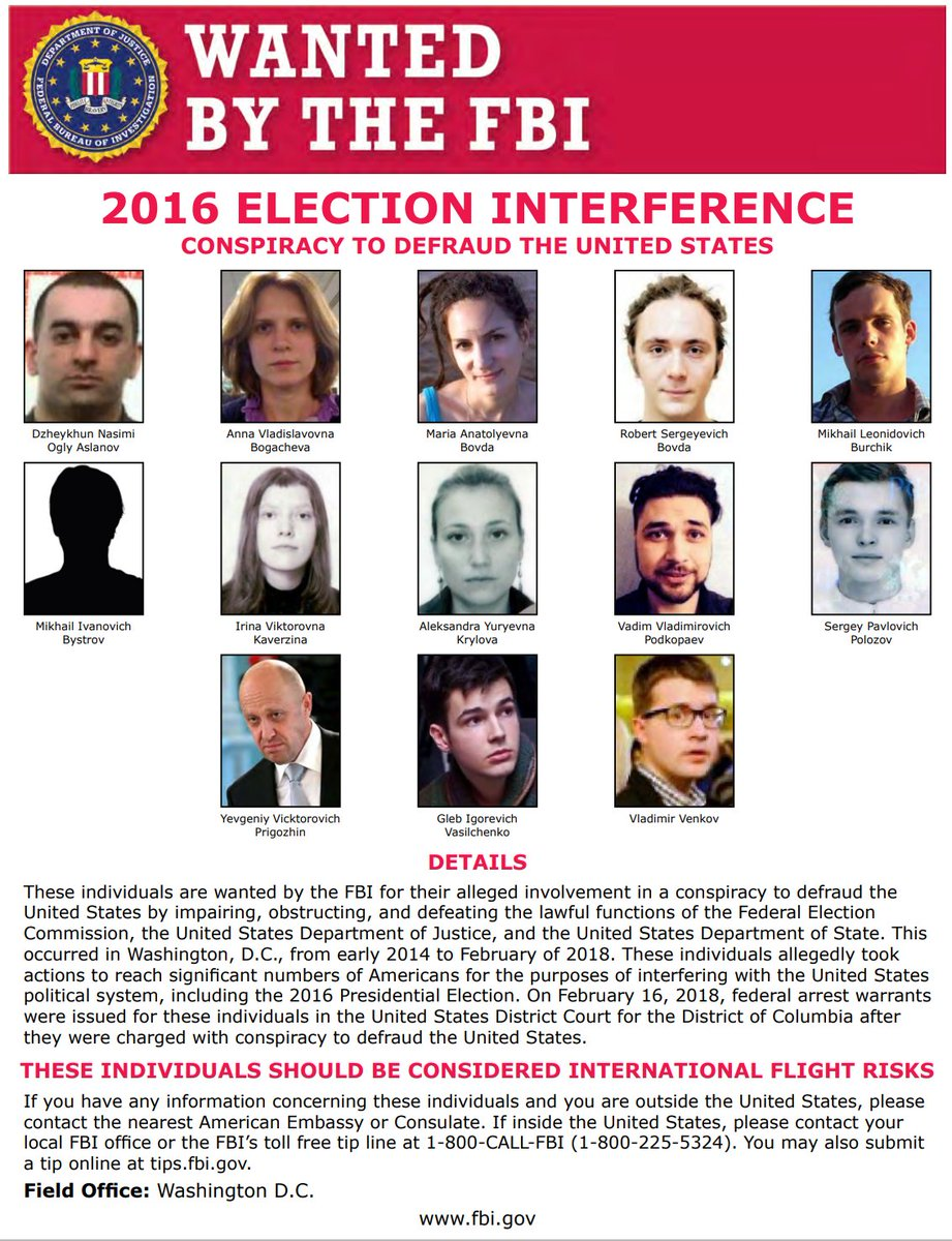 These individuals are wanted by #FBI for their alleged involvement in conspiracy to defraud US by impairing, obstructing & defeating the lawful functions of FEC, DOJ & Dept of State. This occurred from early 2014 to February of 2018.