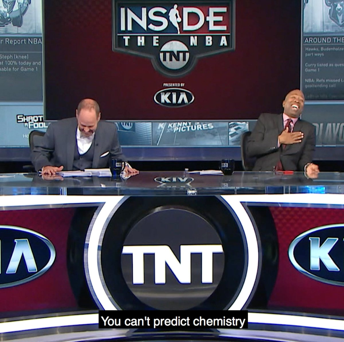"""For 30 years, """"Inside the NBA"""" has been unscripted and unrehearsed. It's the very reason why they've stayed on top.   Watch the premiere of """"The Inside Story"""" on March 4 on @NBAonTNT."""