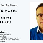 Please join us in welcoming Jaymin Patel to our team as a Website Manager. #volunteer https://t.co/gqxVQlFsox