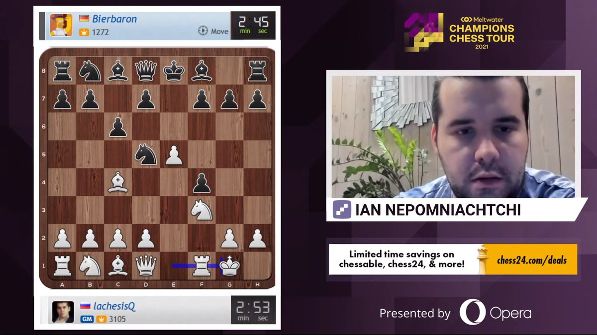 test Twitter Media - Ian Nepomniachtchi is LIVE now playing Banter Blitz!   https://t.co/lJcN49ImDn  #c24live #ChessChamps https://t.co/ETFdyapG7s