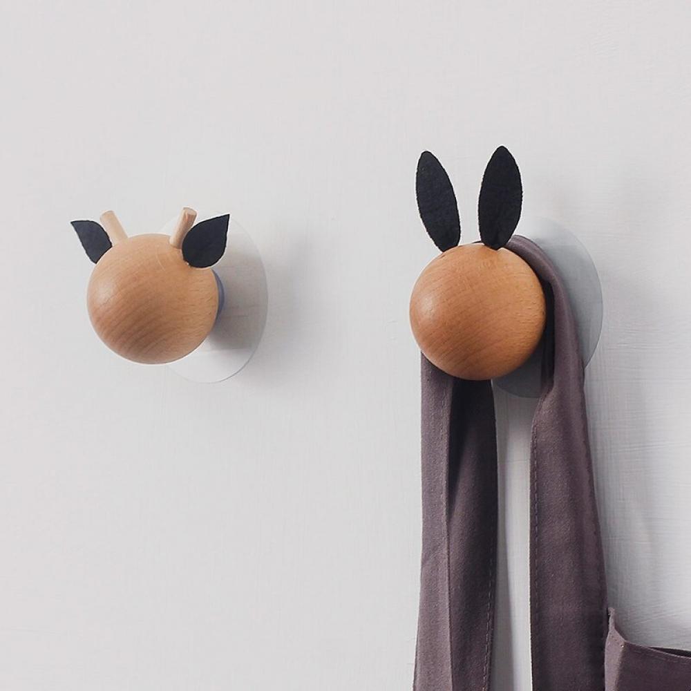 #hashtag4 Wood Clothes Hanger Wall Mounted Coat Hook Key Holder...