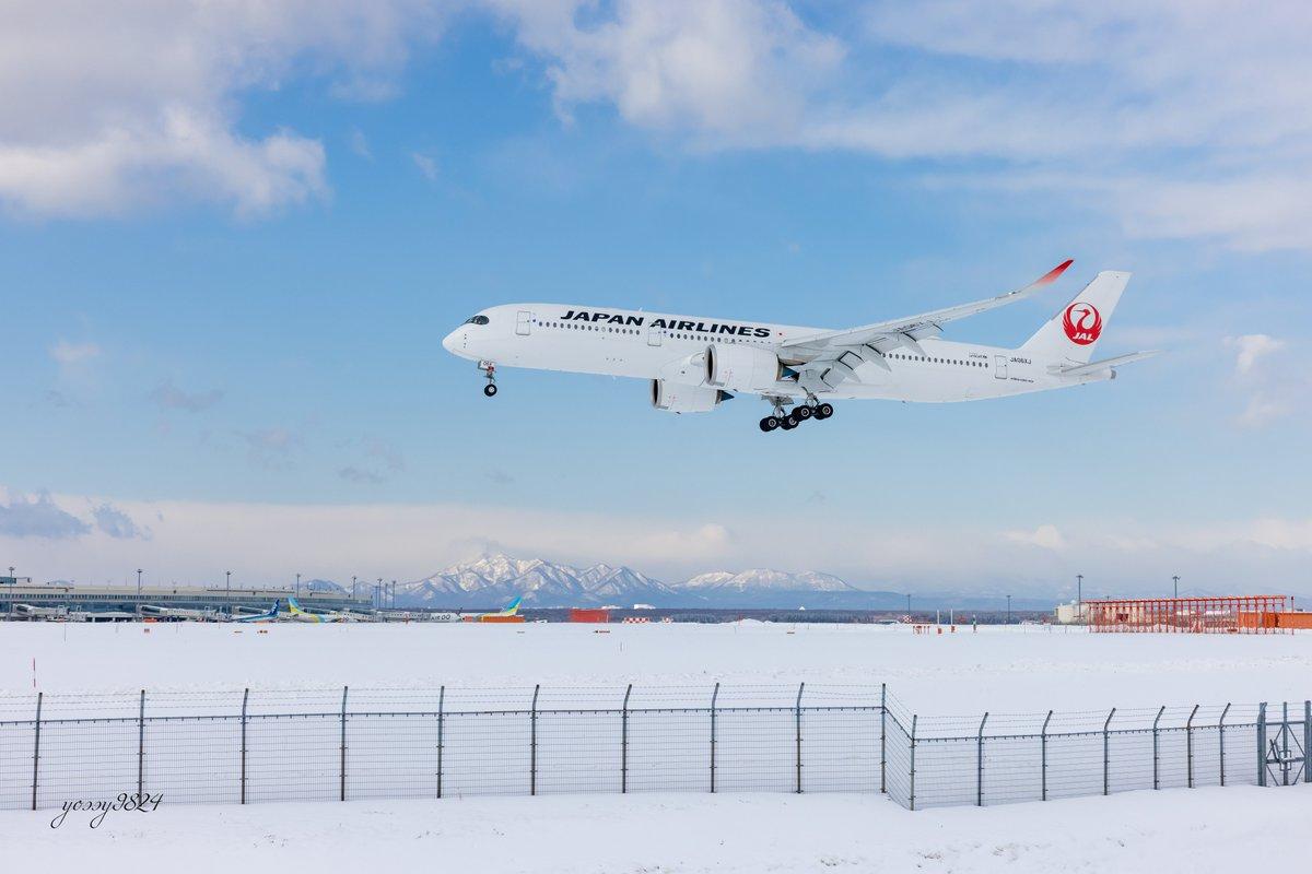 test ツイッターメディア - 冬の新千歳空港で撮影したJAL A350 https://t.co/sPKKz349DL