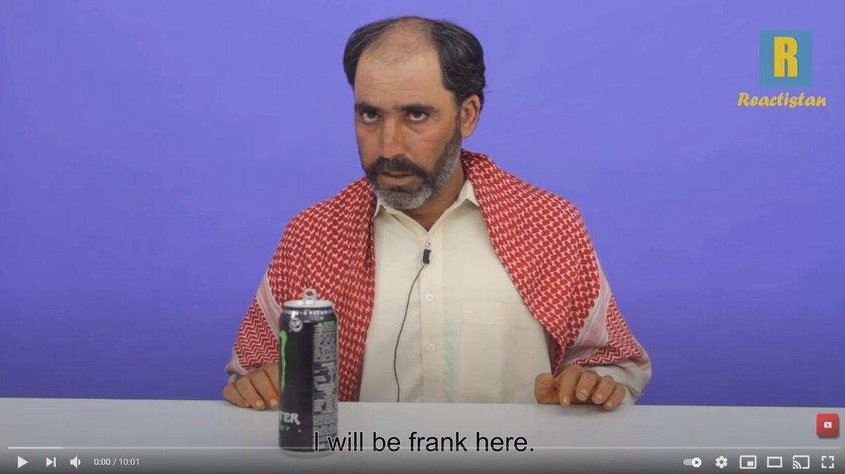 Pakistani tribesman tries monster energy drink for the first time https://t.co/TFIIhCzX9W