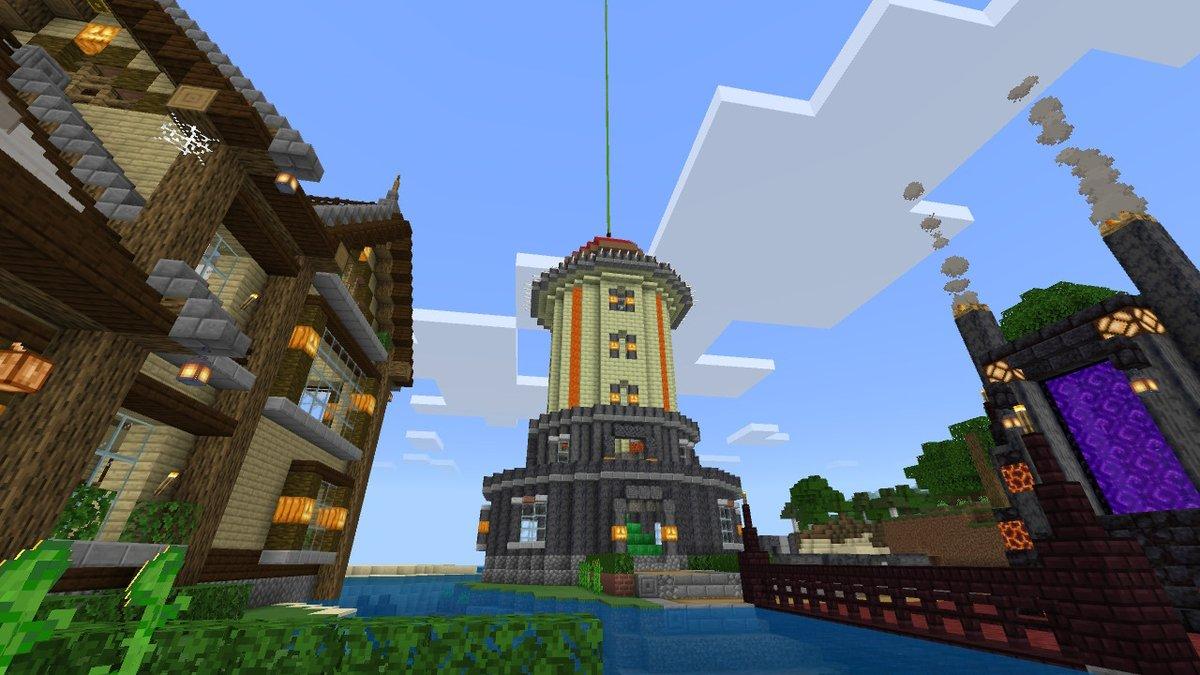 test ツイッターメディア - 灯台完成!玄武岩ベースで、よゐクラのマグマ柱、特技のキノコ屋根で仕上げました。範囲内ならビーコンパワーも発動します。実はこの灯台、過去作品のリメイクなんですけどね…(昨日は何故か投稿失敗) #Minecraft #マイクラ #マインクラフト #NintendoSwitch https://t.co/yjeVmGIXfD