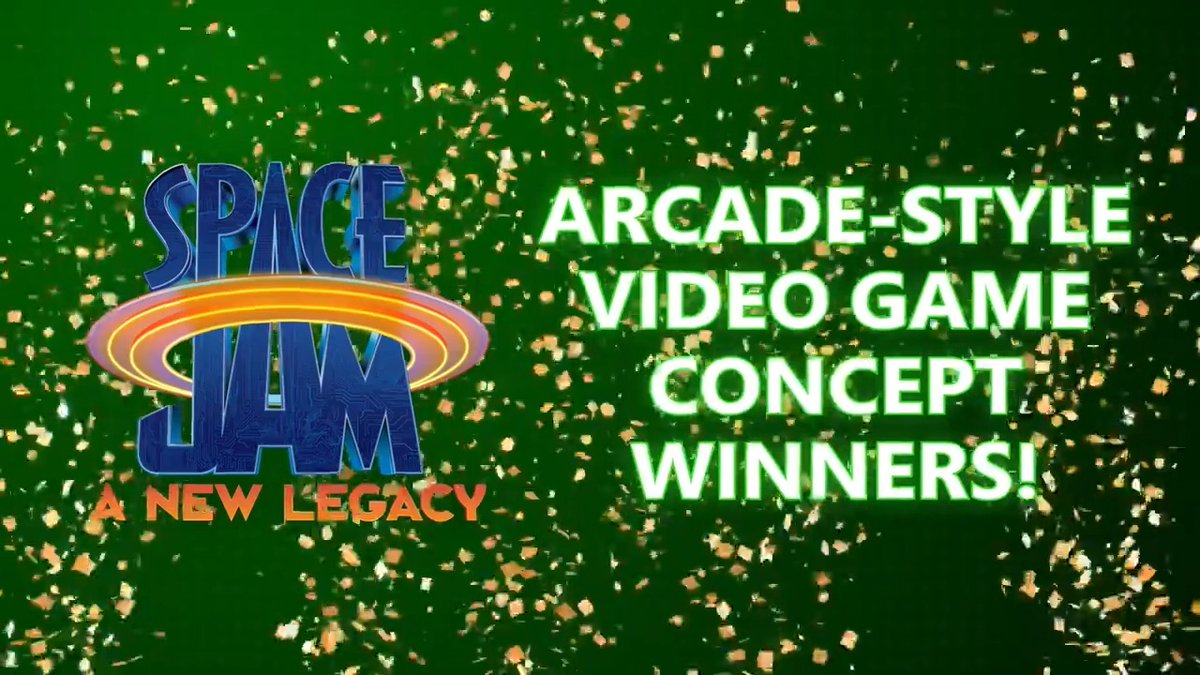 We imagine this feels similar to winning a game alongside the Tune Squad 🏀  Congratulations to Narayan of India and Ricky of the U.S., the big winners of our Space Jam: A New Legacy Arcade-Style Game Design contest!