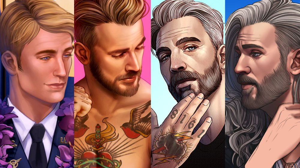 A visual timeline of my art style evolution from 2018-now, ft. Steve