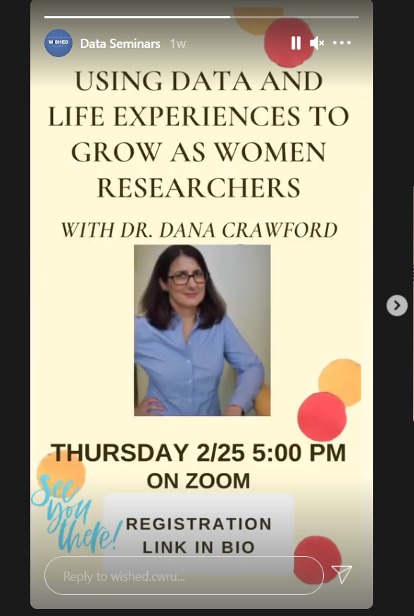 test Twitter Media - No pseudoscience here!  Thrilled to have been invited by @clschuerger and @CWRU Women in Sciences and Humanities Earning Doctorates (WISHED) for last week's early evening discussion of big data and bias in research and in life. https://t.co/ALStV9SeLd