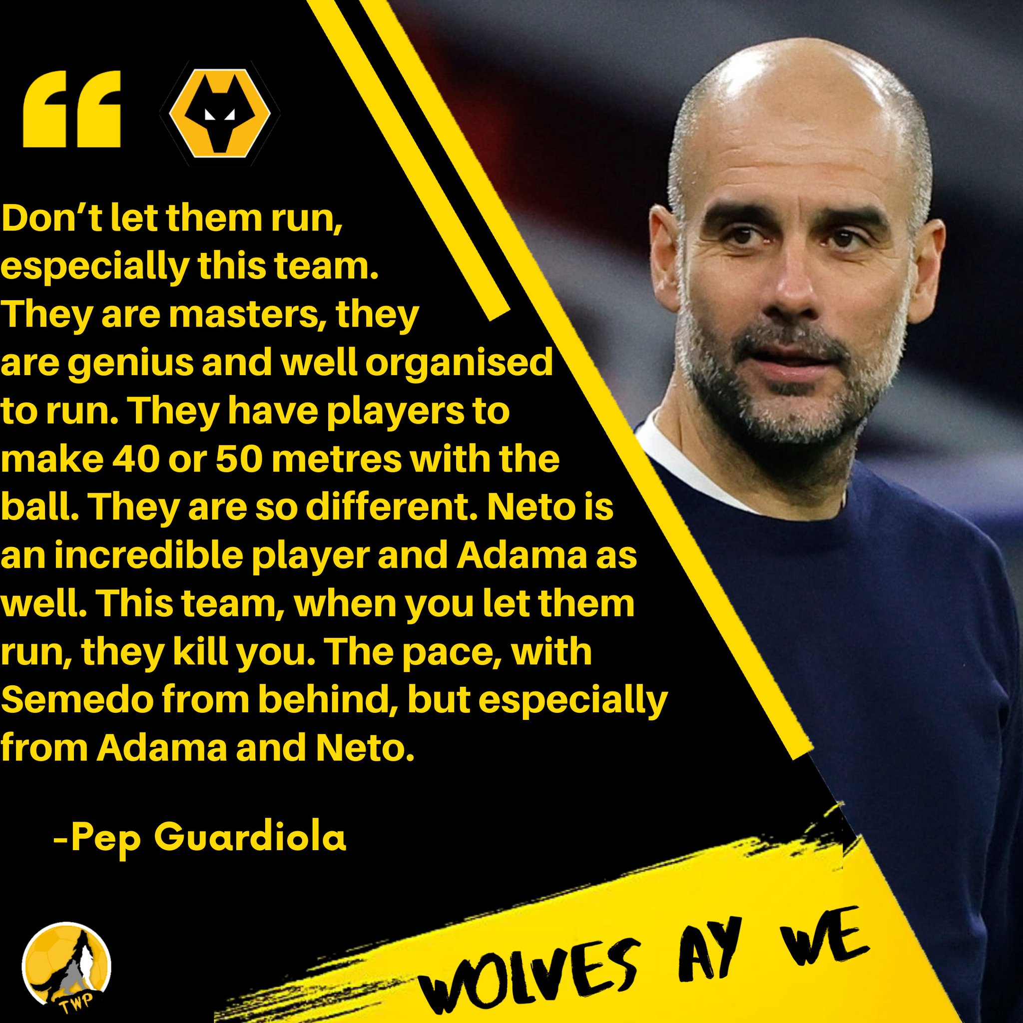 🗣️ Pep Guardiola on Wolves #WWFC #TheWolfpack https://t.co/51mkqPrWTe