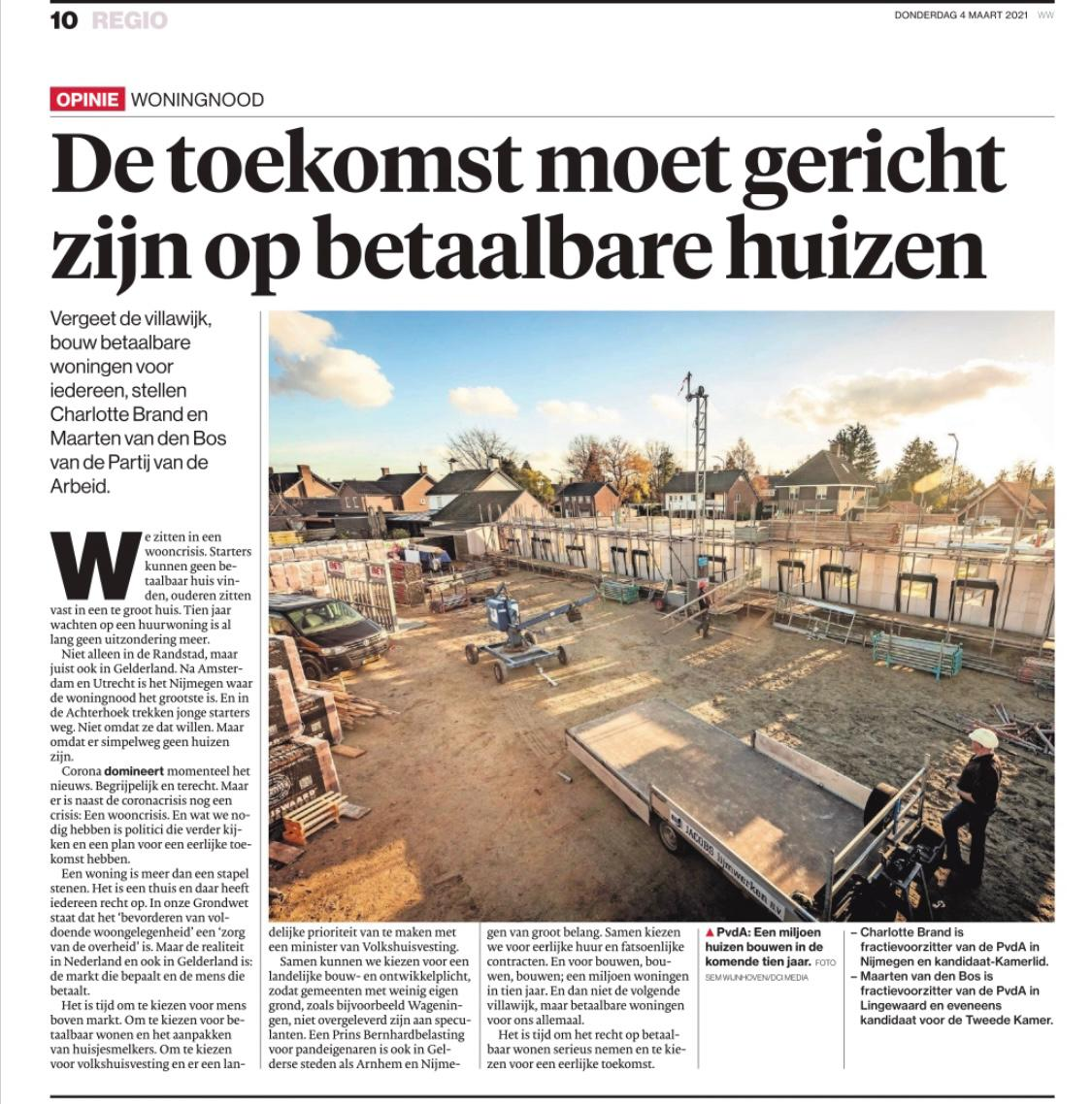 test Twitter Media - Meer en meer aandacht en steun voor boodschap @PvdA.   Vandaag met @CJMBrand in @dgbetuwe: bouw betaalbare woningen voor iedereen, juist ook in Gelderland: https://t.co/AygzzaNYQm